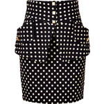 Emanuel Ungaro Polka Dot Pocket Skirt in Black