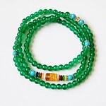 LightInTheBox Maya Fashion Natural Tibetan Green Agate Stone 108 Beads Charm Stretch Bracelet