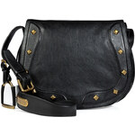 Ralph Lauren Collection Vintage Leather Saddle Bag in Black