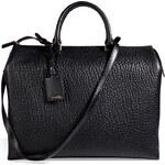 Jil Sander Leather New Pleated Tote in Black