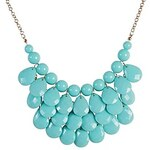 LightInTheBox JANE STONE Acid Blue Water Drop Shape Bib Chunky Necklace