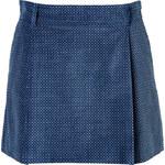 Paul & Joe Velvet Duflair Skirt in Blue