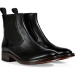 LAutre Chose Leather Chelsea Boots in Black