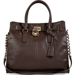 Michael Michael Kors Leather Hamilton Tote in Coffee