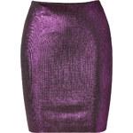 Balmain Metallic Skirt in Violet