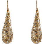 Alexis Bittar Crystal Encrusted Gold-Plated Small Tear Earrings