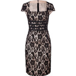 Moschino C&C Crochet Lace Dress with Bow Sashes