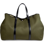 Michael Kors Drill Cotton XL Tote in Army