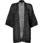 Anna Sui Metallic Mesh Cardigan in Black Multi