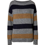 A.L.C. Merino-Camel Hair Rogers Pullover in Green/Moss/Midnight