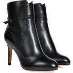 Salvatore Ferragamo Leather Ankle Boots in Black