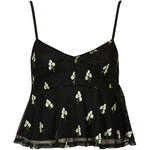 Topshop Daisy Embroidered Peplum Cami