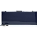Salvatore Ferragamo Kameron Leather Clutch in Oxford Blue