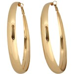 Rock and Rags Hoop Earrings Gold N