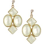 ASOS Limited Edition Pearlised Chandelier Earrings - Green