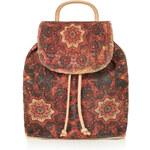 Topshop Suede Printed Backpack