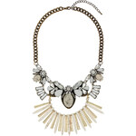 Topshop Cream Semi Precious Stone Necklace