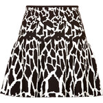 Roberto Cavalli Intarsia Knit Animal Print Skirt