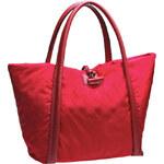 Baťa Prostorná textilní kabelka v červené barvě