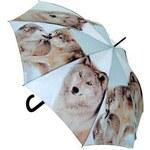 Doppler Dámský holový vystřelovací deštník ART Vlci 74157K