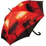 Doppler Dámský holový vystřelovací deštník ART Sloni 740583