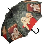 Doppler Dámský holový vystřelovací deštník ART Psí piknik 740586