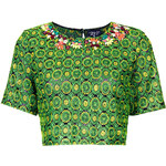 Topshop Tropic Necklace Crop Top