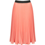 Topshop Sport Waistband Pleat Midi Skirt