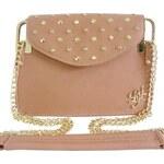 Pudrově růžová kabelka LYDC London Diamond