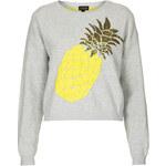 Topshop Pineapple Motif Jumper