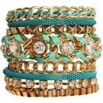 Love Rocks Turquoise Multirow Friendship Bracelet - Blue