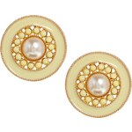 ASOS Limited Edition Faux Pearl Saucer Stud Earrings
