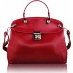 Dámská kabelka Mock Crok Satchel / LS Fashion - LS0051 - červená barva