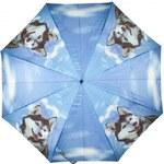 Doppler Dámský holový vystřelovací deštník ART Husky 74157M