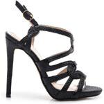 BELLE WOMEN Dámské módní sandálky na podpatku – černé (36)