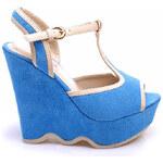 VERA BLUM Semišové sandálky na klínu (37)