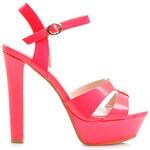 VERA BLUM Lakované sandálky na sloupkovém podpatku (39)