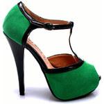LAURA MODE Sandálky na úzkém podpatku (39)