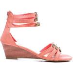 NIO NIO Módní růžové sandále na klínku (36)
