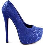 BELLE WOMEN Lodičky modré (41)