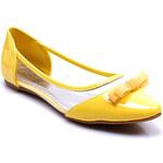 SINLY Baleríny s mašlí žluté (36)