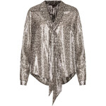 **Floral Metallic Lamé Tie Blouse by Kate Moss for Topshop
