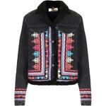 Topshop MOTO Embroidered Borg Jacket