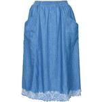 Topshop MOTO Embroiderd Full Skirt