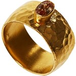 Ottoman Hands Crystal Hammered Band Ring