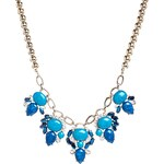 Lipsy Marbled Collar Necklace - Blue