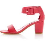 Topshop **Fri Buckled Ankle Strap Block Heel Sandals by Dune