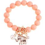 LightInTheBox Lureme Alloy Elephant Pendant Bead Conneceted Bracelet(Assorted Colors)