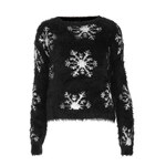 Topshop Knitted Fluffy Snow Jumper