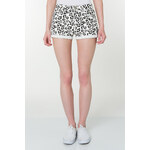 Tally Weijl White Leopard Shorts with Turn Up